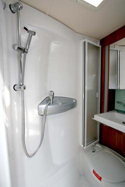 Well designed shower room