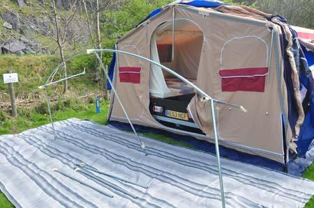 Trigano Galleon Camper set up 3