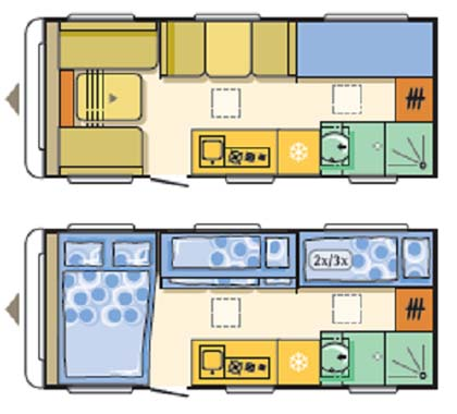 Adria Altea 552DT Tamar floor plan