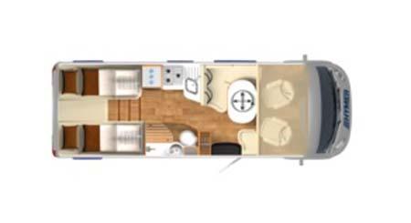 Hymer B588 Premium Line Floor plan