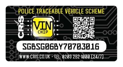 VIN Chip master sticker