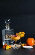 easy fall cocktail making persimmon margaritas