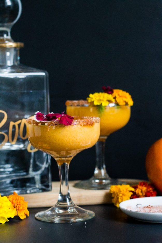 persimmon margarita cocktail for fall