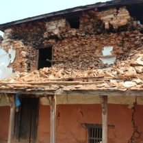 A house devastated by the Earthquake