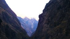 Canyons seen at Manaslu trail