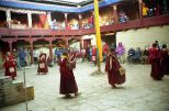 Monks dancing during Mani Rimdu