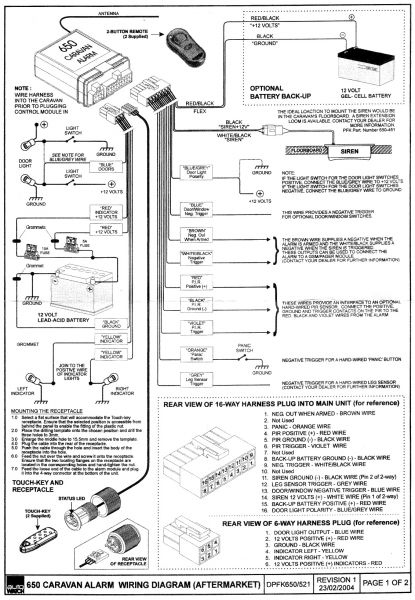 autowatch 650 alarm wiring diagram
