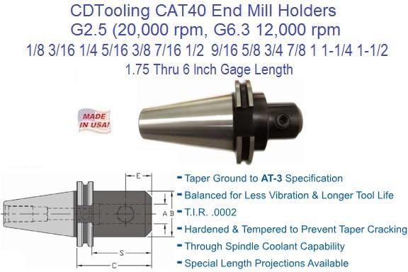 Cat 40 End Mill Holders Wwwimagenesmicom