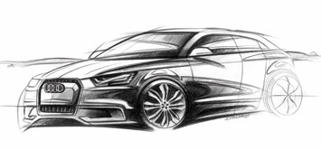 Audi A1 Sportback Concept Design Sketch