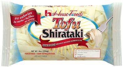 Fettucine Low Carb, Low Calorie Tofu Shirataki Pasta 8 oz bag by House Foods