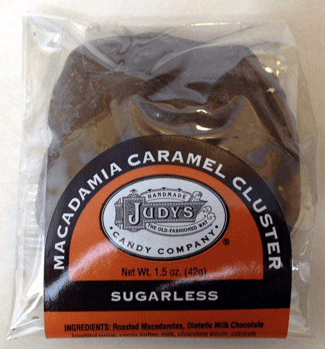 1.5 oz. Sugarless Macadamia Caramel Cluster by Judy's Candy Co.