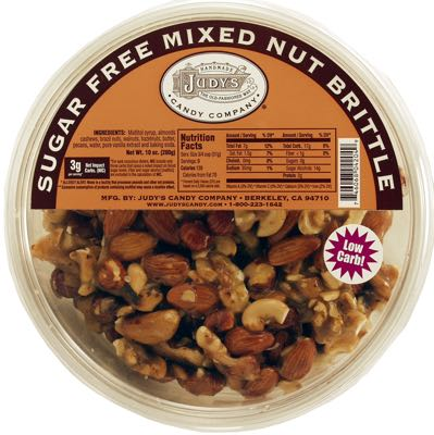 Judy's Mixed Nut Brittle 10 oz Tub