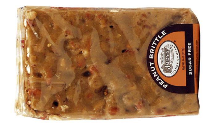 Judy's Candy Co. 8 oz. Sugar Free Peanut Brittle