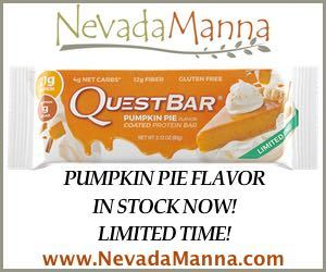 Nevada Manna Quest Pumpkin Pie Protein Bar