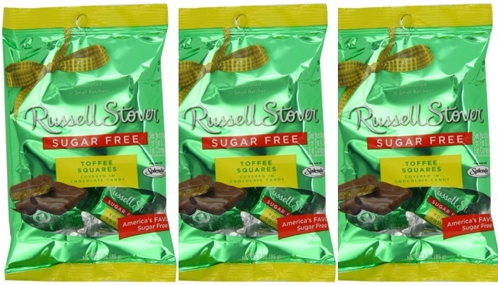 Sugar Free Toffee Squares Covered in Chocolate Candy 3 oz. Bag by Russell Stover