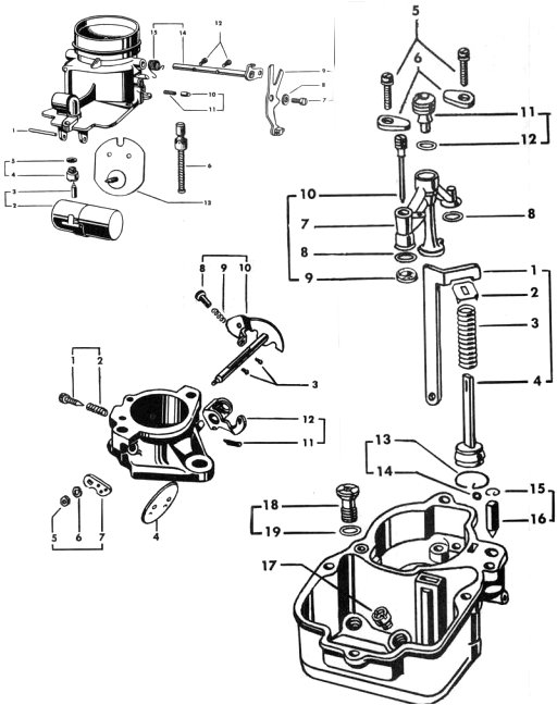 zenith carburetors diagrams