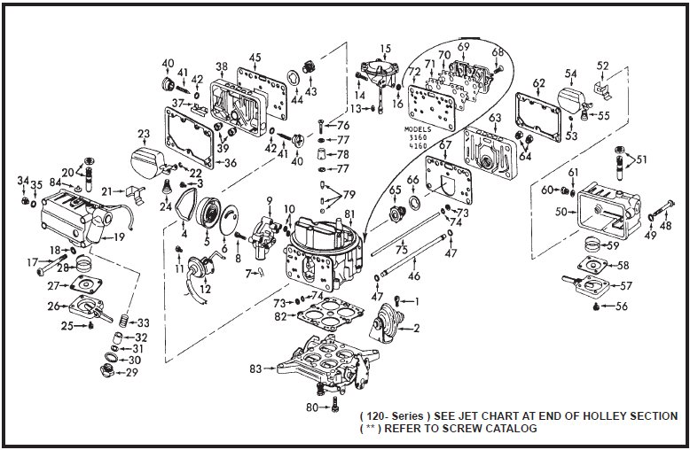 holley 4150 diagram