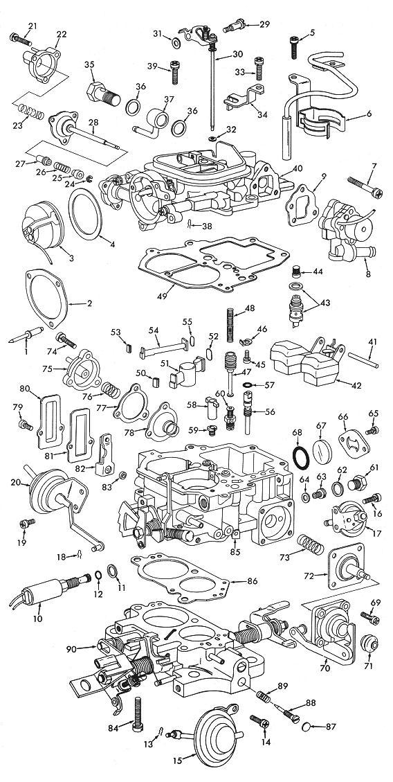 mitsubishi carburetor diagram