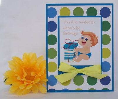 1ST BIRTHDAY INVITATION - FUN HANDMADE CARD IDEAS
