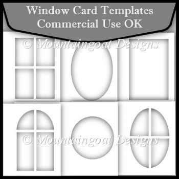 Window Card Template Commerical Use OK - £350  Instant Card Making