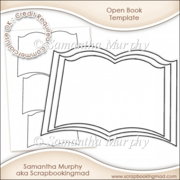 Open Book Template Commercial Use Ok - £350  Instant Card
