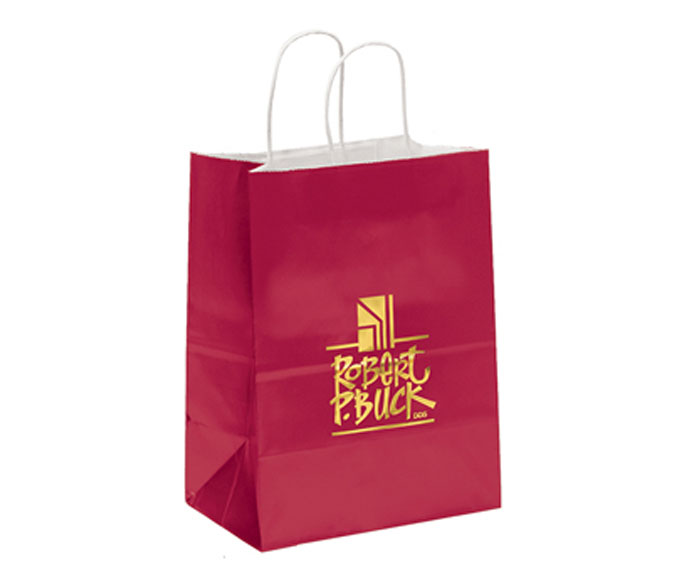brown paper bags with handles Hot Design Recyclable Kraft Paper Bag