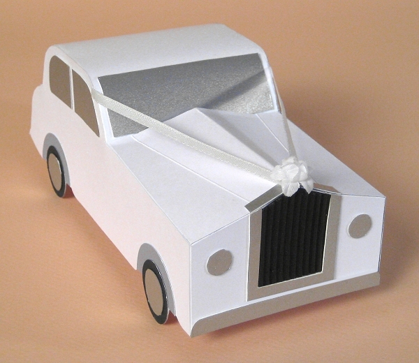 Card Craft / Card Making Templates - Opening 3D Wedding Car by Card