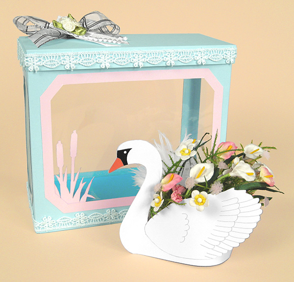 Card Craft / Card Making Templates - Beautiful 3D Swan by Card Carousel
