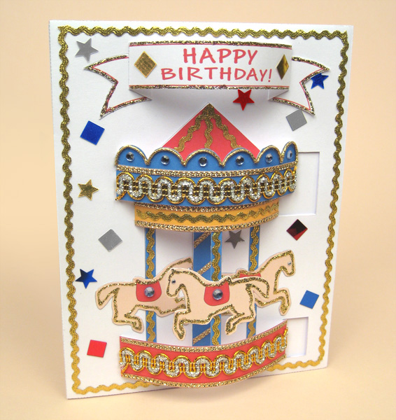 Card Making Templates for Pop-Up Carousel Card  Envelope by Card