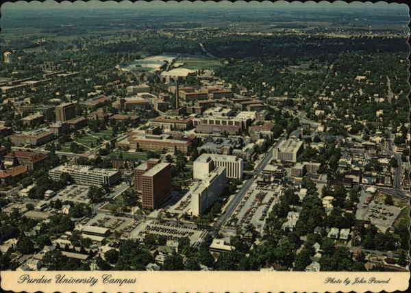 Purdue University Campus West Lafayette, IN Postcard - purdue university campus