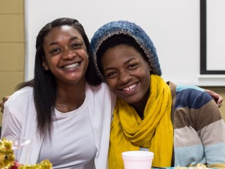 Tidra Price and Jonquil Lindsey enjoy their meal together. Photo by Katherine Cheshire