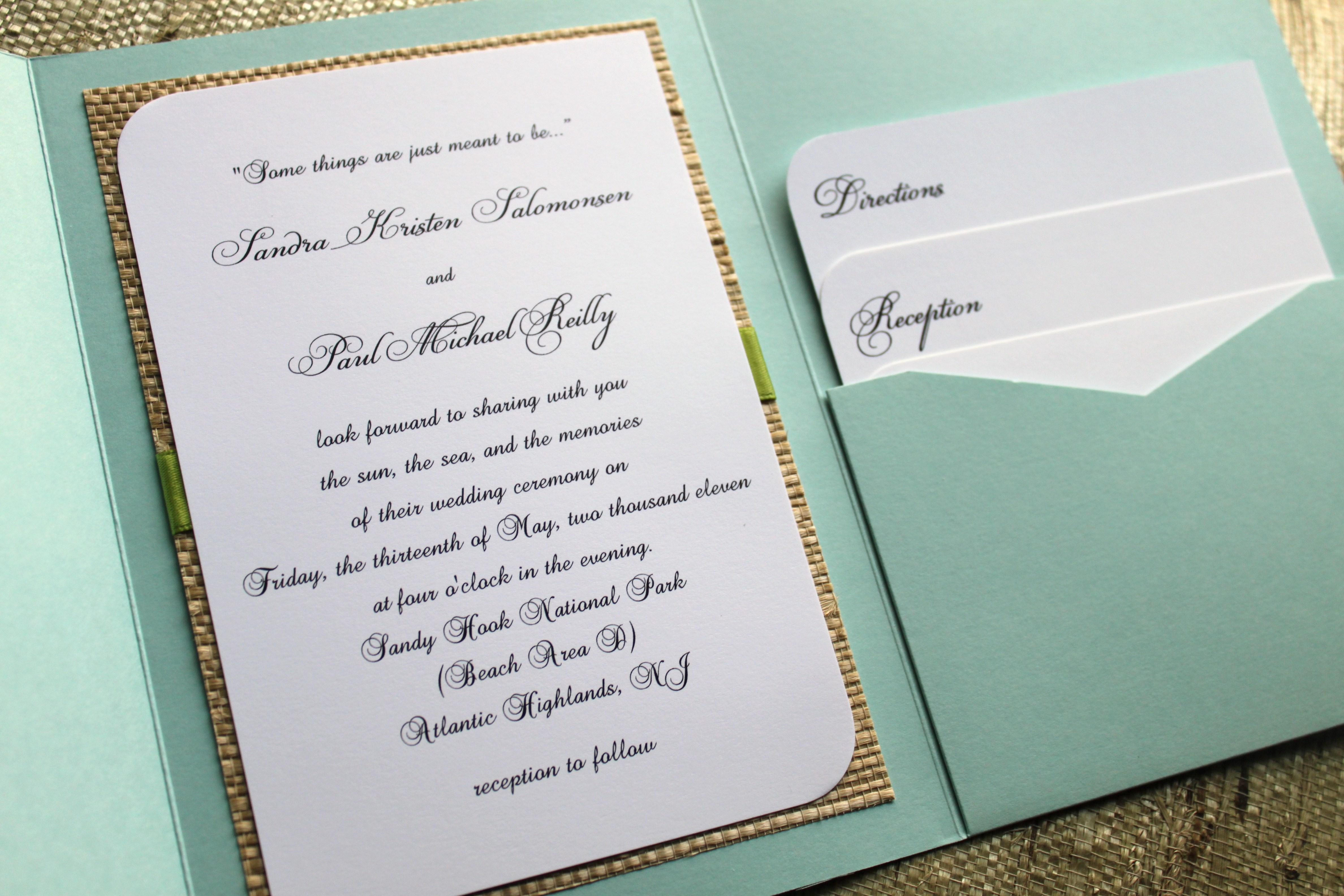bi fold wedding invitations