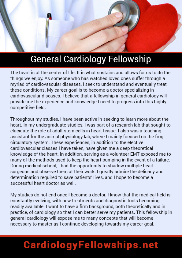 Residency Cardiology Personal Statement heart failure fellowship - medical assistant resume examples