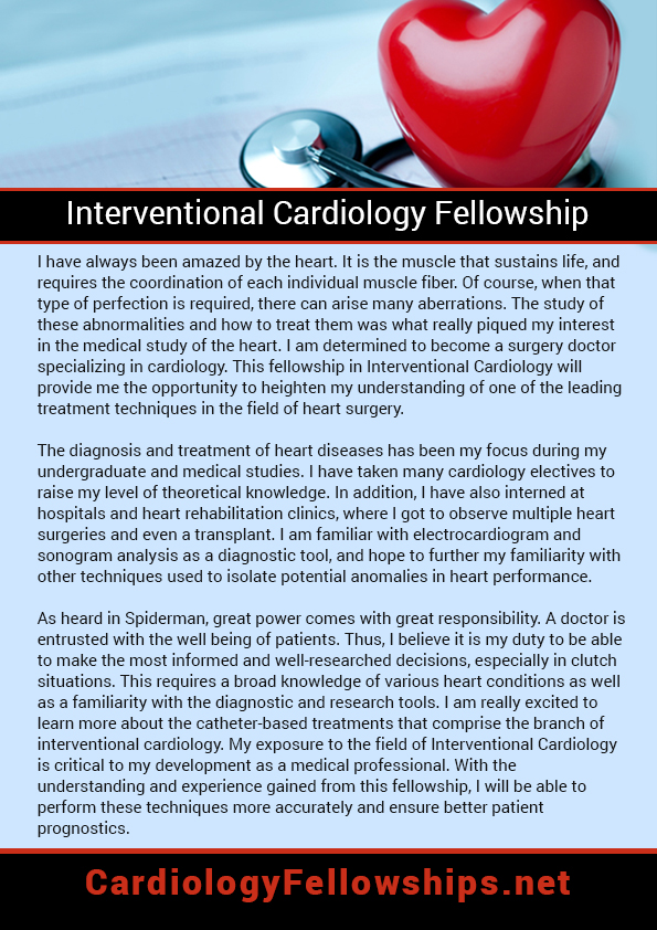 Great cardiology fellowship personal statement (tracyholt452) on - personal statement sample