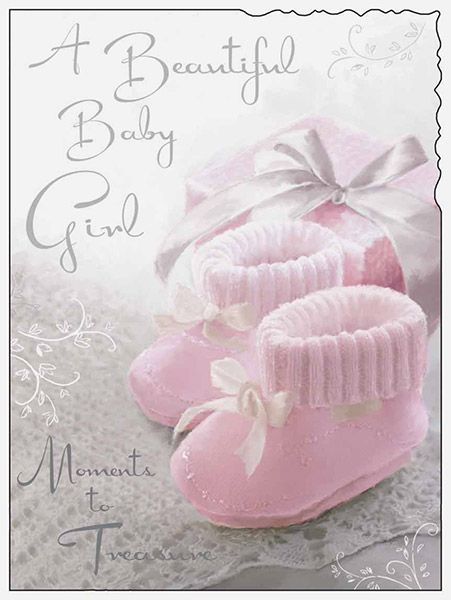 Birth of a Beautiful Baby Girl Card - Birth Of Baby Girl