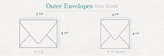 Double Envelopes - Inner and Outer Envelopes in 100+ Colors Cards