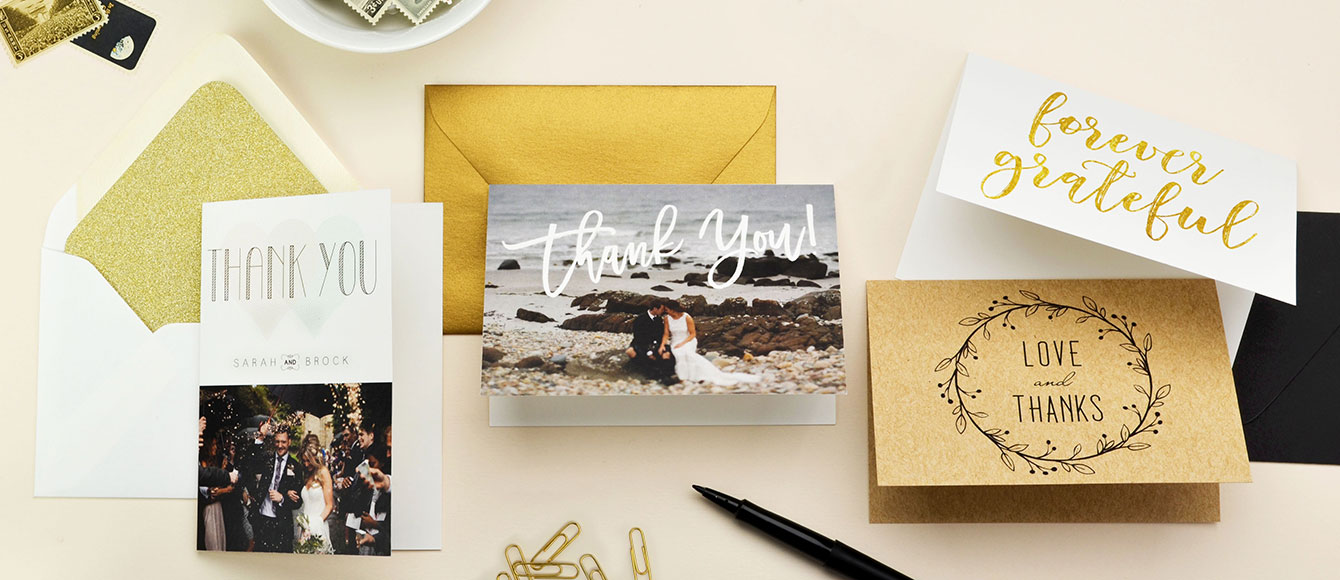 Affordable Wedding Thank You Cards Cards and Pockets
