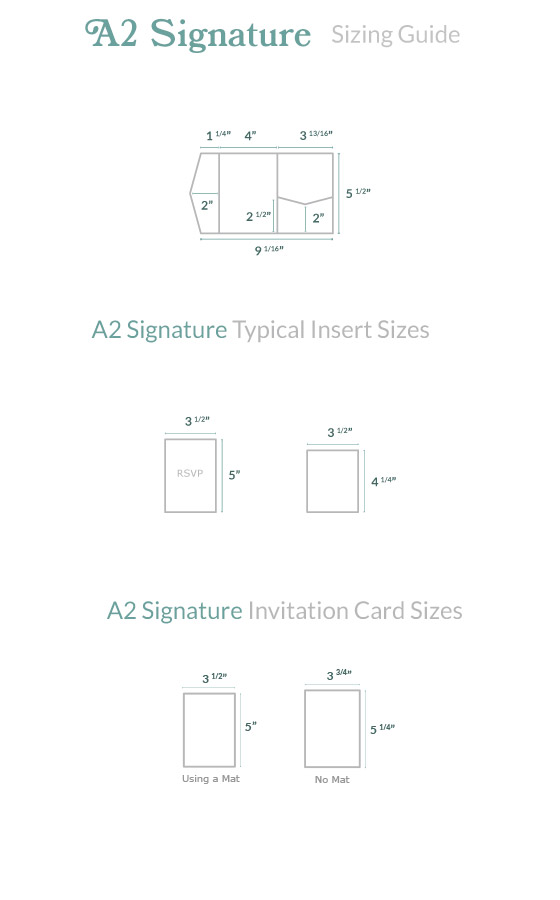 Invitation Size Guide A2 Pocket - Cards  Pockets