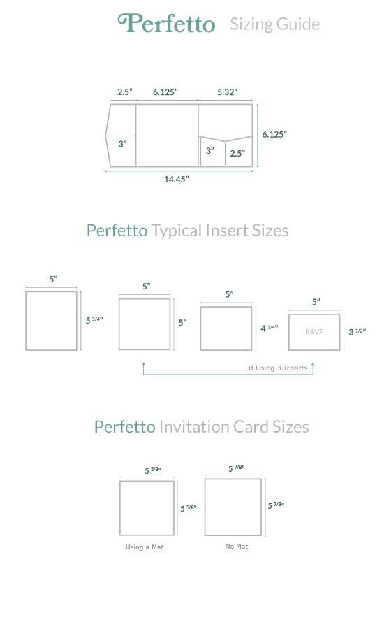 Invitation Size Guide Perfetto Pocket - Cards  Pockets