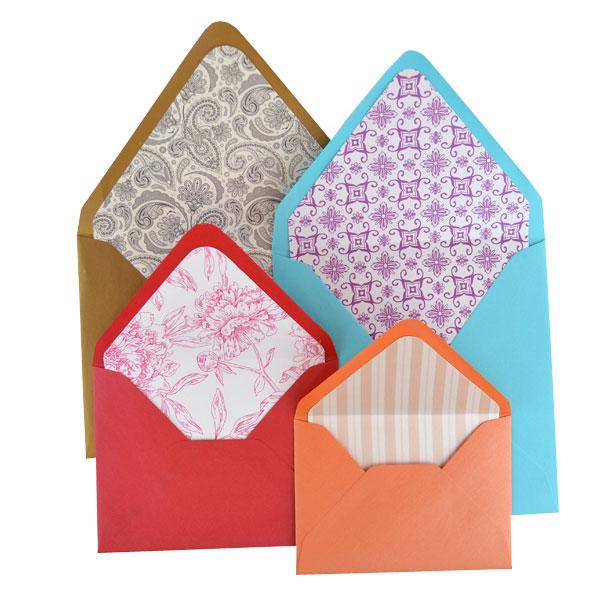 Lined Envelopes Pattern Paper - Cards \ Pockets - sample 5x7 envelope template