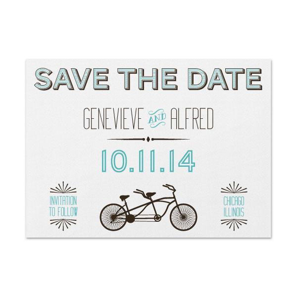 Tandem Bike - Save The Date -SAMPLE