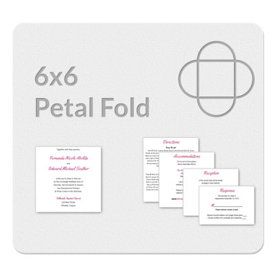 Petal Fold 6x6 Invitation Template