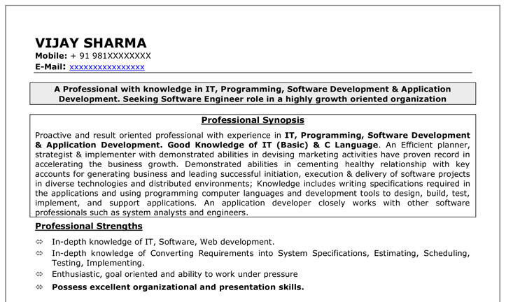 Careerana Resume Development Services Resume writing Samples First