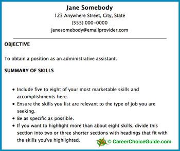 header for resume