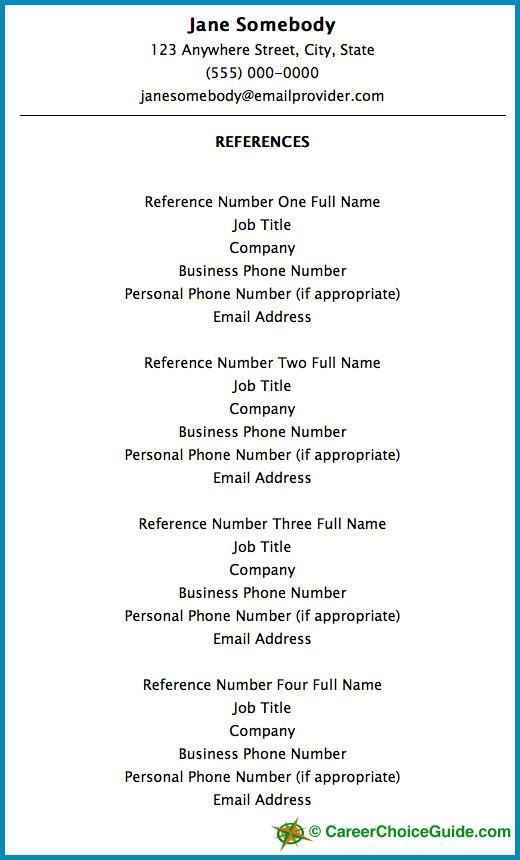 job resume headings