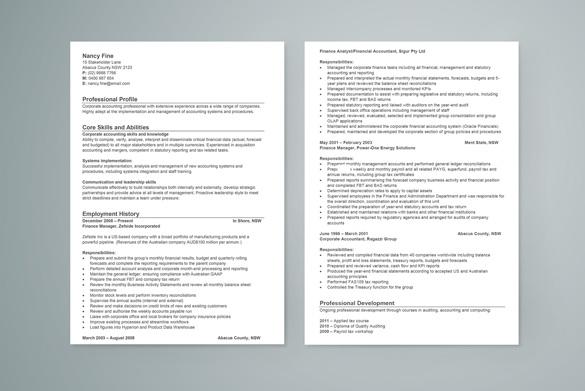 Registered nurse resume Career FAQs - free australian resume template