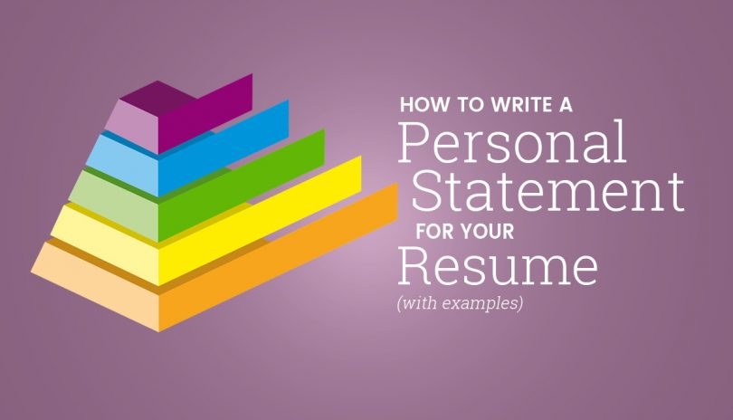 How To Write A Personal Statement For Your Resume (With Examples) - personal statement on resume