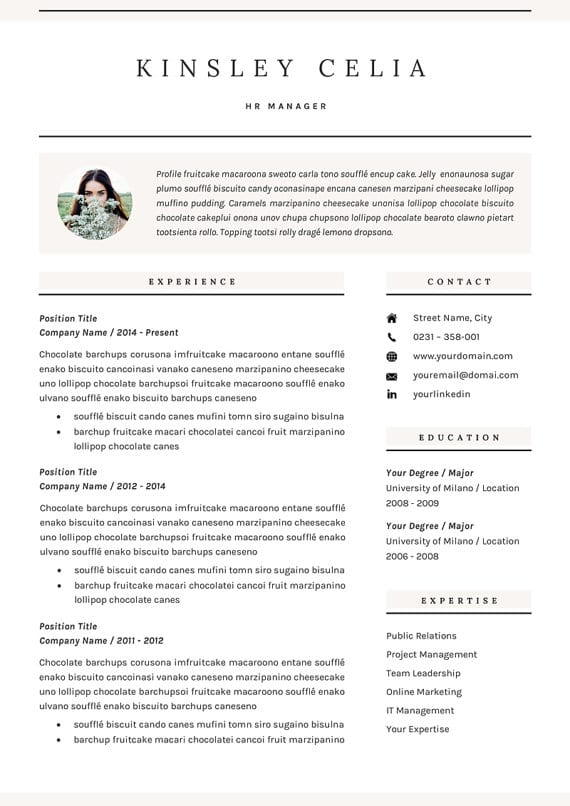 14 Incredible CV Templates For Every Job Type Career Girl Daily - professional resume 2018