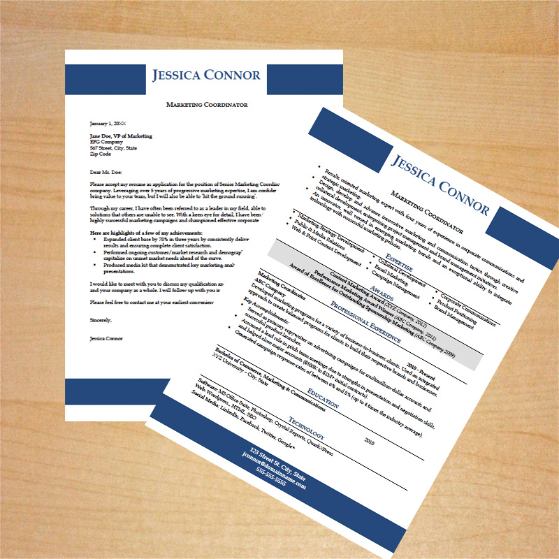 Marketing Resume  Cover Letter Template - Career Goods