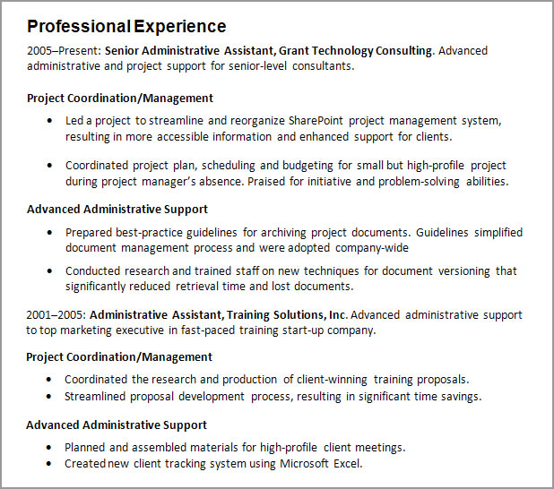 Work experience Resume Guide CareerOneStop - resume working experience